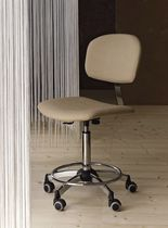 stool with casters for hairdressers (with backrest) IDEAL Medical & Beauty