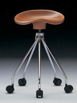 stool for offices with casters JAMAICA AMAT - 3