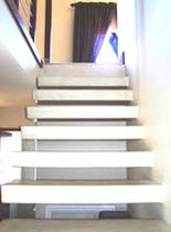 straight concrete floating staircase  QUICK-STEP Instant Staircases