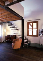 straight floating staircase (metal frame and wood steps) IBISCO MONOLAMA New Living srl