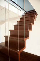 straight floating staircase (wooden frame and steps) VENEZIA Ci. Erre Scale