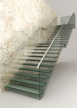 straight glass floating staircase IPC MEDIA Q4825 SPIRAL Stairs