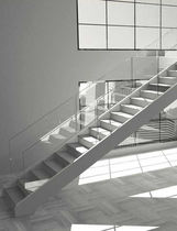 straight staircase with a lateral stringer SERIE C-RE EDILCO