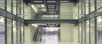 straight staircase with a lateral stringer for commercial buildings (metal frame and steps) by Aukett Fitzroy Robertson Hubbard