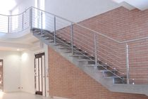 straight staircase with a lateral stringer (metal frame and steps) ANDREA DORIA SPECIAL essegi scale