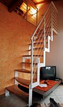 straight staircase with a lateral stringer (metal frame and wood steps) MARINARA GOMERA essegi scale