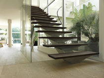 straight staircase with central stringer 60 Bliard Cr&eacute;ations