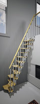 straight staircase with modular central stringer (metal frame and wood steps) MINI MisterSTEP