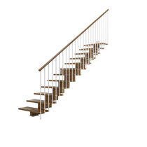 straight staircase with central stringer (wooden frame and steps) KREA I (H1) IDEALKIT