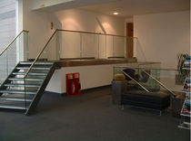 straight staircase with a lateral stringer  Canal Engineering Ltd