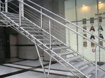 straight staircase with a lateral stringer  OZONE OVERSEAS LTD.