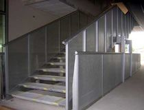 straight staircase with a lateral stringer for commercial buildings MARCONI MANAGEMENT CENTRE by Vincenzo Lega ALUSCALAE