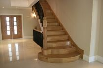 straight staircase with a lateral stringer (wooden frame and steps) W/101/1 Cast Spiral Stairs