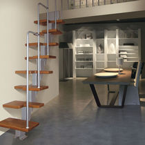 straight staircase with modular central stringer (metal frame and wood steps) MARINARA F Scale nilur