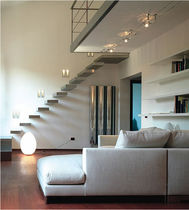 straight wood floating staircase  ESSEMME