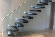 straight wood floating staircase GULANE SAXUM