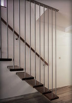 straight wood floating staircase CLARENDON elite metalcraft