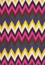 striped silk fabric ADRAS IKAT PRINT JEWEL F. SCHUMACHER &amp; CO.