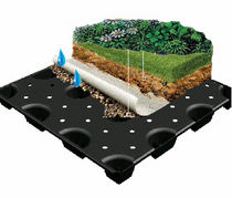 studded draining sheet (green roofs drainage) WINDIDRAIN PONTAROLO ENGINEERING