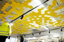 suspended ceiling tile made by recycled materials  Traullit Dekor
