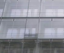 suspended curtain wall (stainless steel and glass)  Glass Tech Facades
