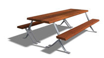 table with cluster seating for public spaces ALEPH MUS 2,25 M by Junquera, Jer&Atilde;&sup3;nimo DAE