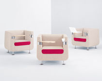 tablet armchair HUSH by David Ritch & Mark Saffell Arcadia Contract