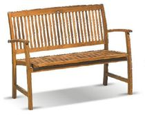 teak contemporary garden bench (with backrest) COASTER HARTMAN