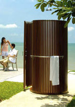 teak outdoor shower  Outdoor Comforts