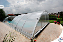 telescopic high pool enclosure UNIVERSE NEO Alukov HZ