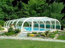 telescopic high pool enclosure IRIDE A. DI ARCOBALENO