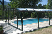 telescopic high pool enclosure with lateral opening PARADISE PISCINES MAGILINE