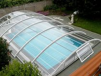 telescopic low pool enclosure BASIC A. DI ARCOBALENO