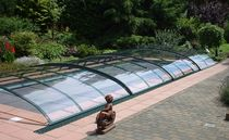 telescopic low pool enclosure VISION UNIPOOL
