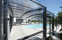 telescopic wall pool enclosure RIMINI PARADISO INTERNATIONAL