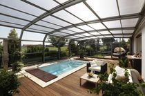 "telescopic wall pool enclosure VENEZIA ""INTEGRA"" PARADISO INTERNATIONAL"