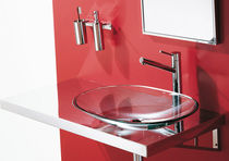 tempered glass counter top washbasin SCULTURA REGIA