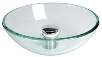 tempered glass counter top washbasin LA1479 CAN di Bellini Mauro