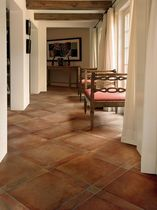 terracota look porcelain stoneware floor tile (FloorScore certified, low VOC emissions) TUSCAN CLAY Crossville