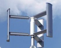 small three-bladed vertical axis wind turbine (Darrieus rotor) EASY VERTICAL - 1 kW ROPATEC
