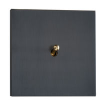 toggle light switch with metal finishing SYDNEY : BRONZE LUXONOV