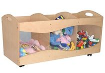 toy box with casters (unisex) SEE THRU BINS KidKraft