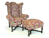 traditional armchair with footstool WILLIAM & MARY Lee Jofa