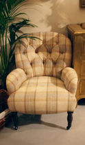 traditional armchair with casters  HANBEL