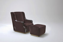 traditional armchair with footstool by Maurizio Chiari COLOMBO STILE