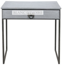traditional bed-side table ANDREA BLANC D'IVOIRE