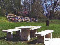 traditional bench and table set for garden  S&ouml;lker Marmor