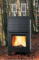 traditional boiler fireplace (wood-burning closed hearth ) QUADRAQUA PLUS Caminetti Montegrappa