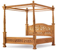 traditional canopy double bed  Universal Greyhound Ltd.