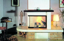 traditional corner fireplace (wood-burning closed hearth ) BOLZANO italiakalor